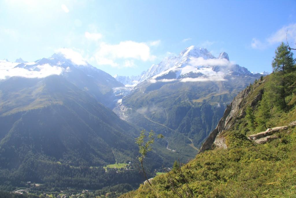 Le glacier d'Argentière avant d'entamer la descente sur le col des Montets.