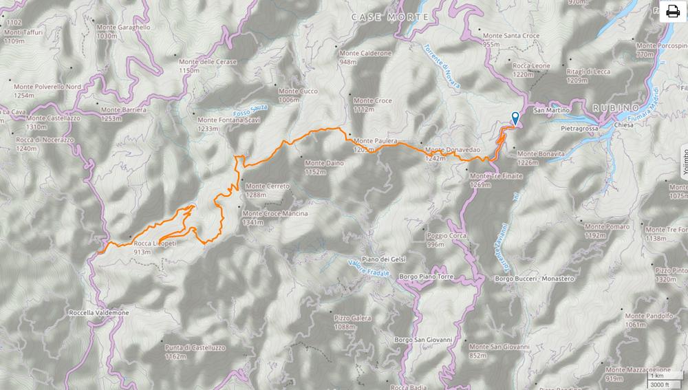 5. --> 2km avant Roccella Valdemone